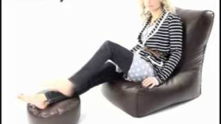 Solo Bean bag Chairs With Free Footstool by rucomfy bean bags