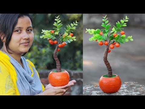 Artificial plant and flower vase for home decoration // DIY Craft -gift idea