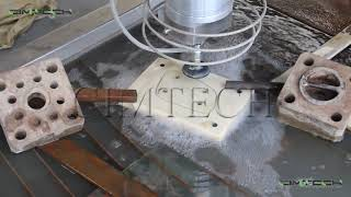cnc cutter 4 Axis Ce Certifications water jet aluminum screw cutting machine for metal and stone