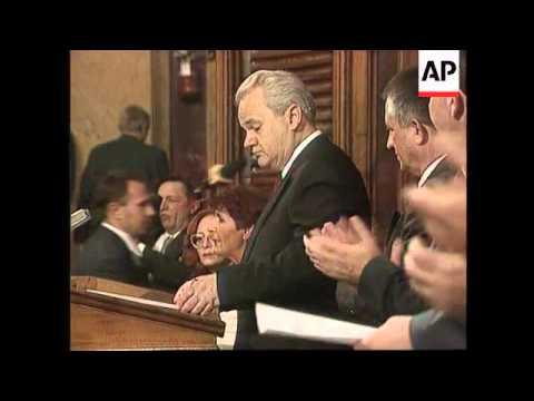 Yugoslavia - Milosevic  sworn in as President