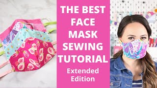 😷 How to sew face mask | How to make fabric mask (DIY) 😷