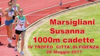 Fidenza 1000m cadette 2002 IV Trofeo città di Fidenza 28 Maggio 2017