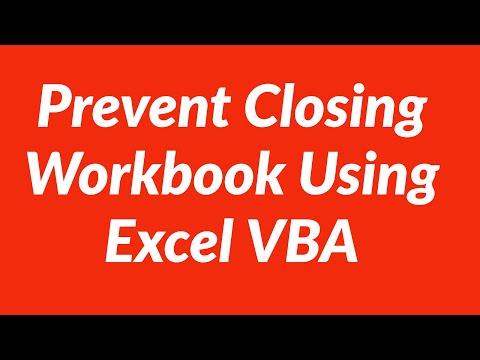 Prevent closing workbook using excel vba youtube prevent closing workbook using excel vba ibookread Download