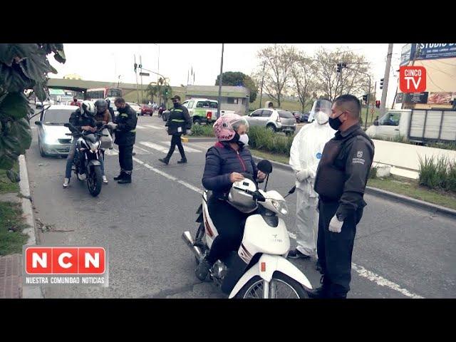 CINCO TV - San Fernando realizó nuevos controles de tránsito en los principales accesos a la ciudad