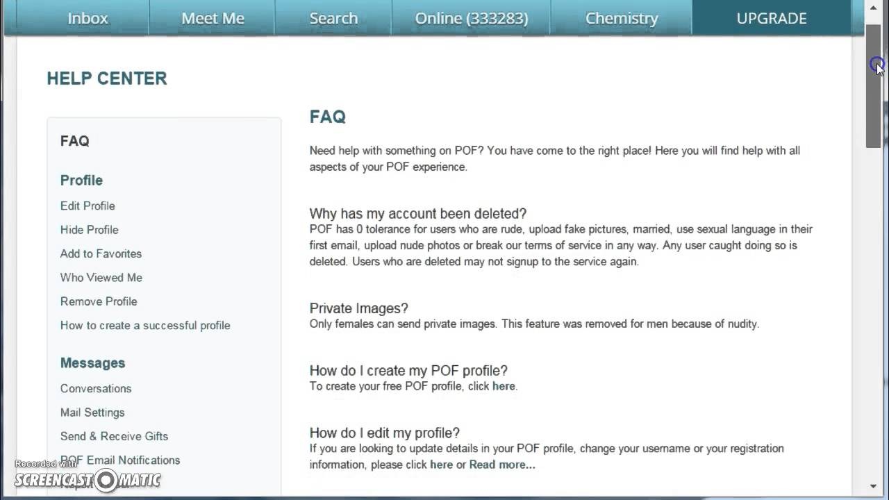 Plenty of fish pof login 123vid for Login plenty of fish