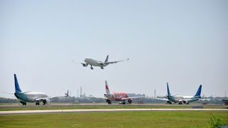 Daftar Pesawat Yang Landing Sore Hari di Bandara Ngurah Rai Bali di Denpasar