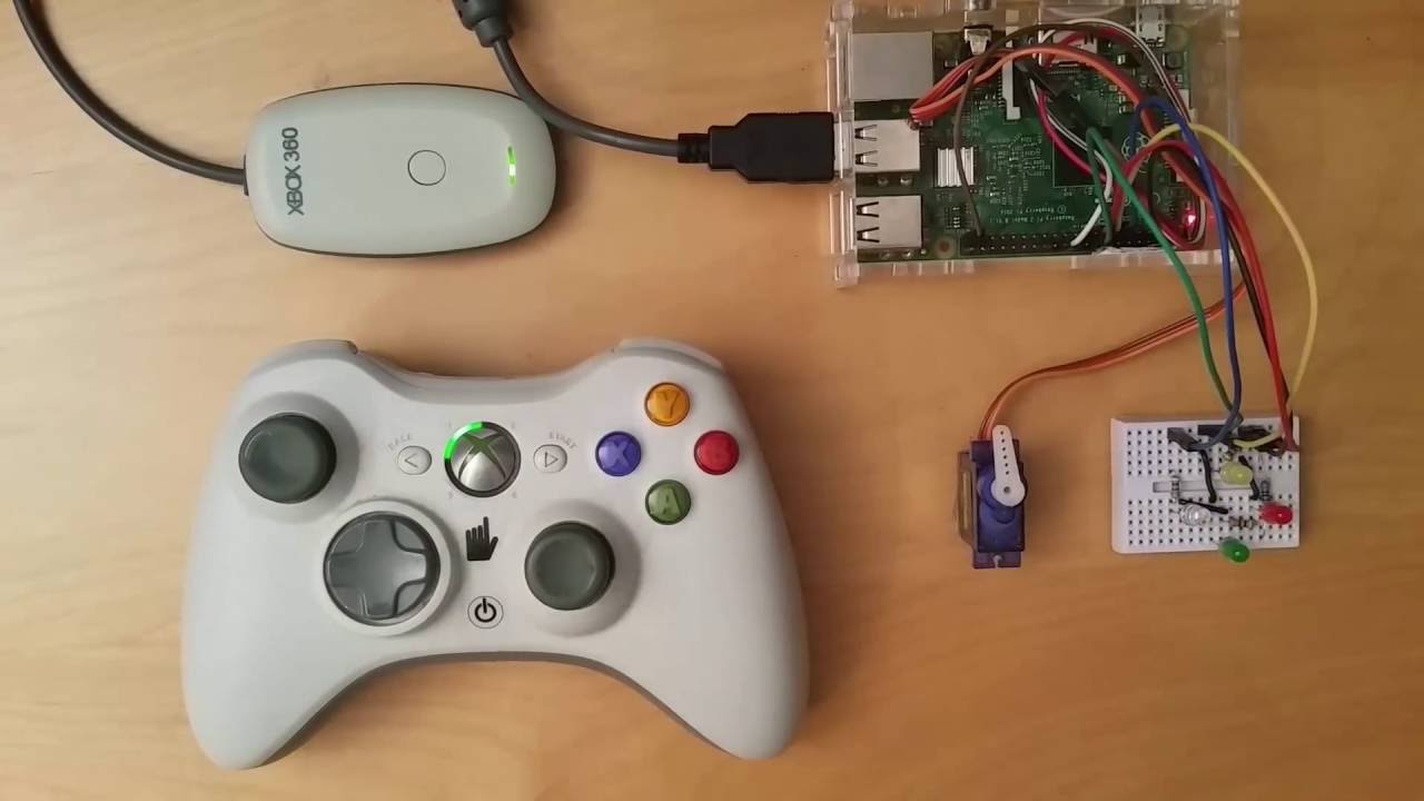 Control your Raspberry Pi by using a wireless Xbox 360 ... on