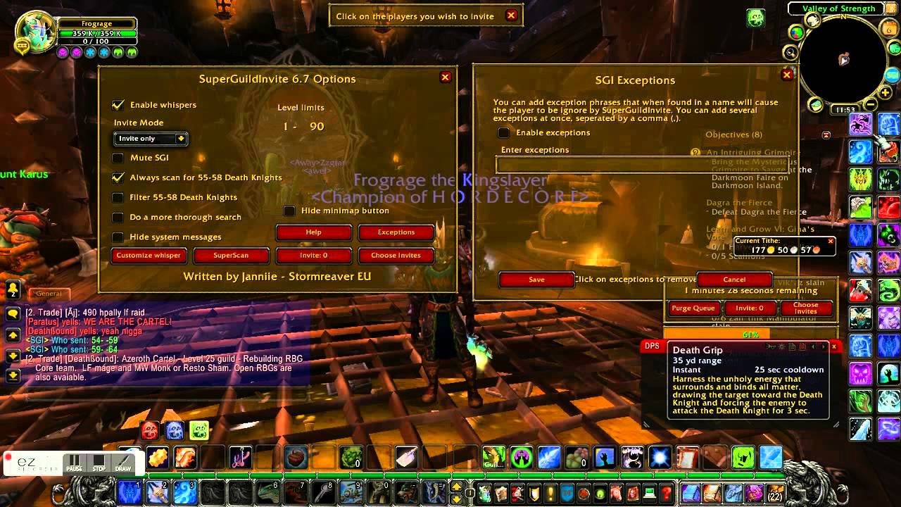 Best Wow Guild Recruiting Addon Youtube