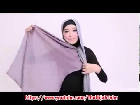 Best of The Best cara untuk memakai Tudung TUTORIAL Dual tone shawl hijab