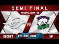 Secret vs VP Semi Final ESL One Hamburg 2018 Highlights Dota 2