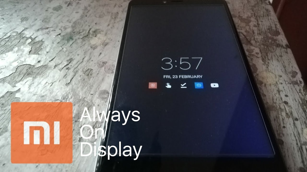 Get Redmi Always On Display For All Redmi Devices (See description)