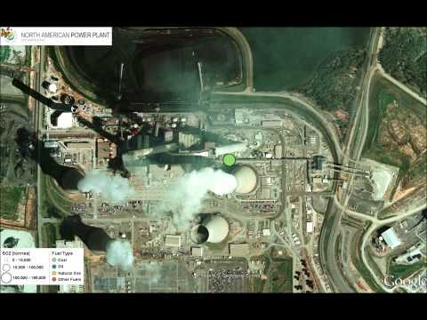 North American Power Plant Air Emissions - Google Earth Tour