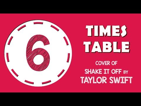 6 Times Table Song  of Shake It Off  Taylor Swift!