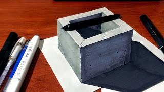 3D Concrete Well / Hole - 3D Drawing