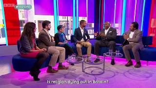 'Is religion dying out in Britain?' Andrew Copson on Sunday Morning Live