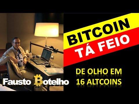 ₿ITCOIN TÁ FEIO - DE OLHO EM 16 ALTCOINS