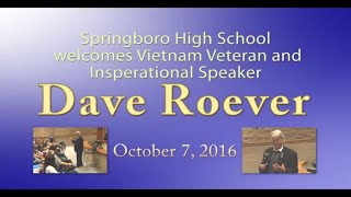 Dave Roever visits Springboro High School