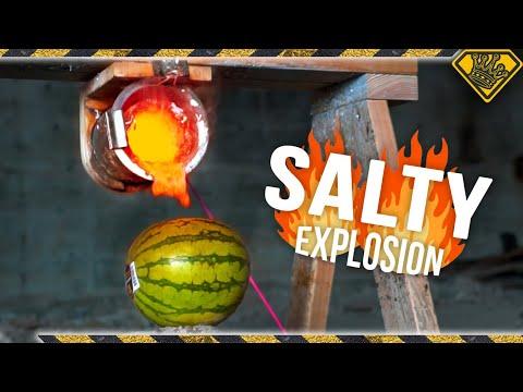 ¿Reaccionan igual un melón y una sandía ante sal candente?