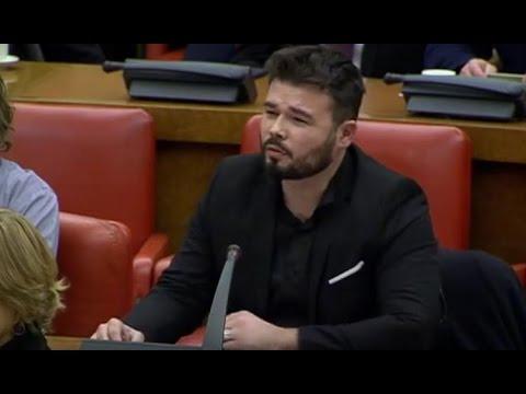 RUFIÁN (ERC) deja KO a COSPEDAL con 10 preguntas sobre el YAK-42 (16/01/2017)