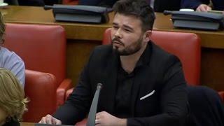 Intervención del portavoz de ERC en el Congreso, Gabriel Rufián, du...
