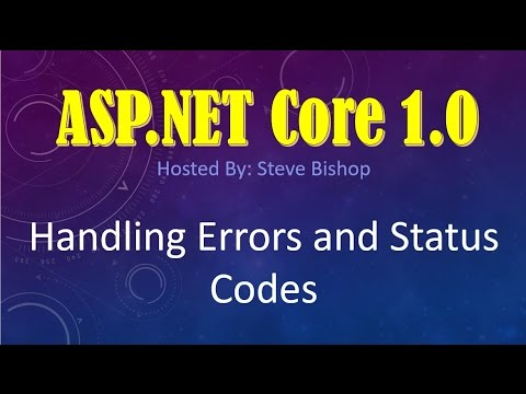 30. (ASP.NET Core 1.0 & MVC) How To Handle Exception Errors and Status Codes