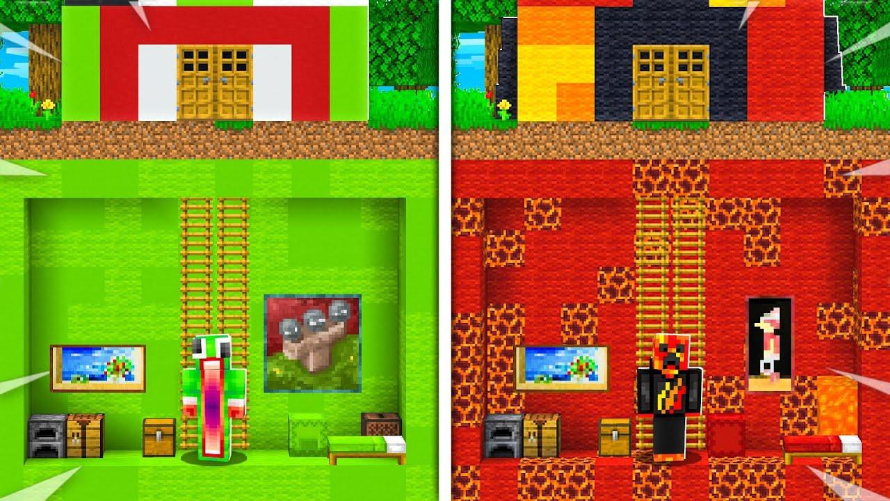 Preston Vs Unspeakable Secret House Battle  - Minecraft