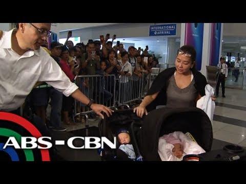 Korina, Mar balik-bansa kasama ang kanilang kambal   TV Patrol