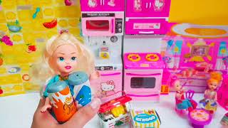 Cute Doll and House, Car Kids doll Grocery Shopping, Kids doll Kitchen,  - HD