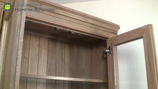Loren Oak Display Cabinet