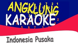 INDONESIA PUSAKA. Karaoke music for encouraging group of people learning angklung
