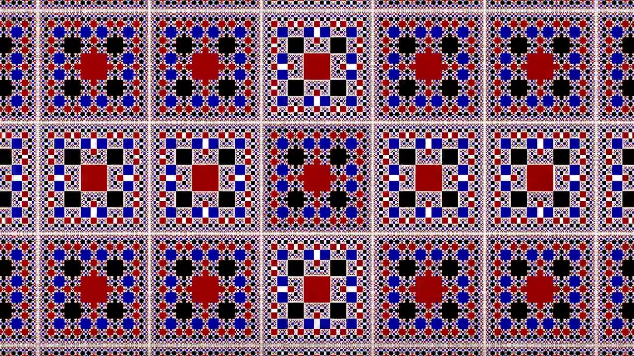 Capitulo 23 Algo pasa con Phi - Mosaico fractáureo a partir del cuadrado