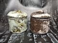 Круглая шкатулка своими руками/Jewelry box/kadife kutu