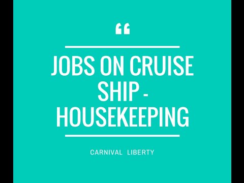 Jobs on cruise ship   Housekeeping