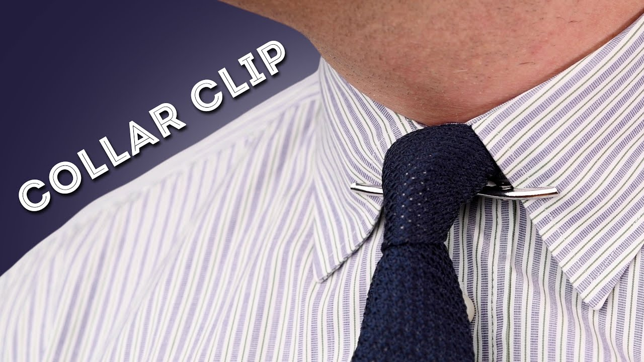 How to Style a Collar Clip   Tips for Men's Collar Clips, Bars, & Pins