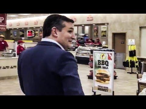 Super Cringey Footage of Ted Cruz Buying Beer Emerges