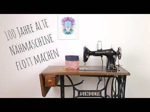 Ich mache meine alte Singer Nähmaschine flott