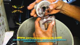 PROPERLY CLEAN AND REPAIR GAS STOVES BURNERS CLOGGED OR FLAME STAINS COOKING POTS OR PANS BLACK