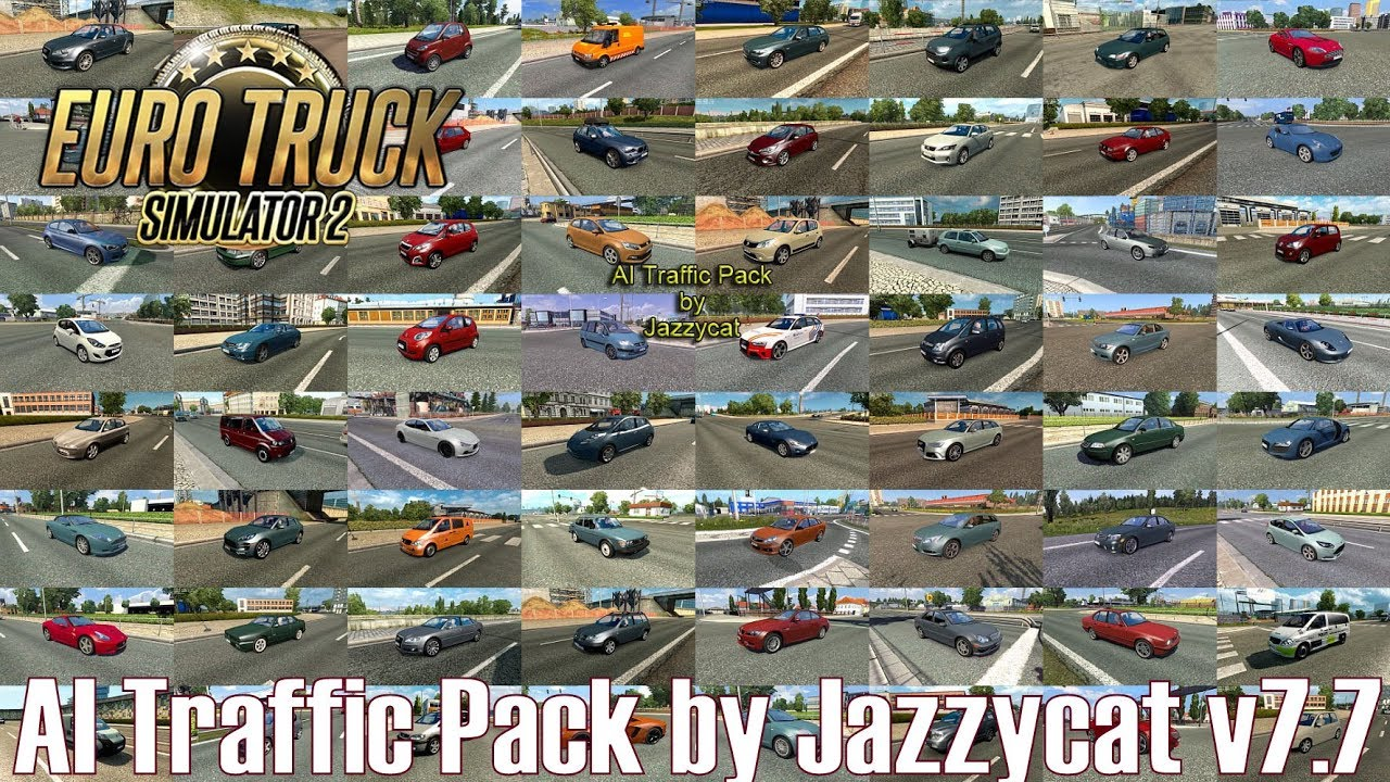 ETS2 v1 31 I Mod ▶️ AI Traffic Pack by Jazzycat v7 7 [Deutsch/HD]