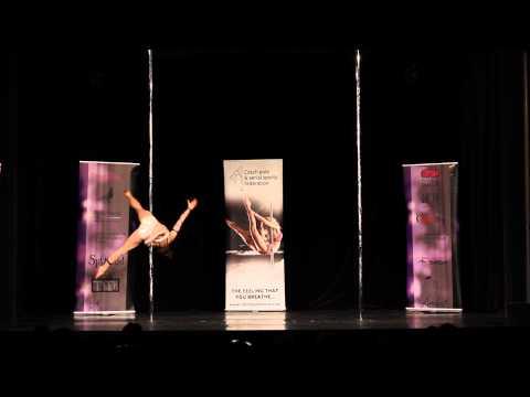 Anna Kantell - semifinále profesionálů MČR v pole dance 2013