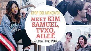 Kpop Idol Makeover at Salon in Gangnam: Meet Kim Samuel, TVXQ, Ailee!