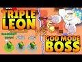 TRIPLE LEON VS GOD MODE BOSS Trolling Boss Brawl Stars Funny Gameplay mp3