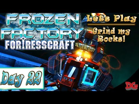 FortressCraft - Frozen Factory! ► Let's Play Episode 22 ►Grind My Rocks! (1440p/60)