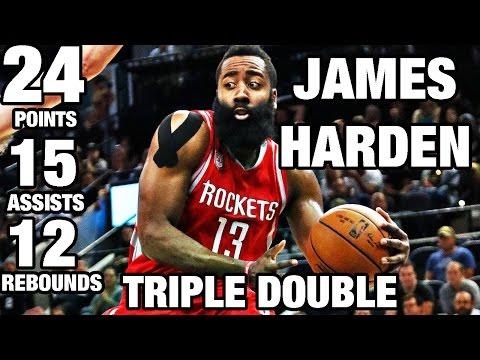 James Harden Hits A Triple-Double Against the Spurs!