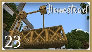 Minecraft Homestead Modpack | Rope & Pulley Elevator! | E23 (Hardcore Survival 1.10.2 Let's Play)