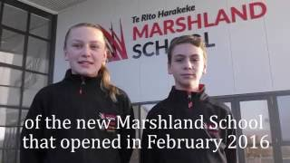 Touring Marshland School with  Lucy & Boston