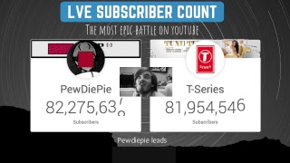 Pewdiepie Vs T-Series | Live Subscriber Count | T-series Vs Pewdiepie | Bye Pewdiepie