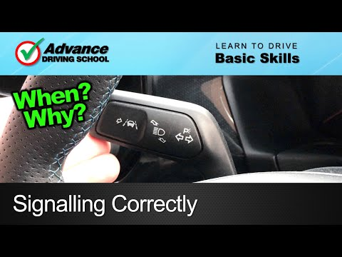Signalling / Indicating Correctly  |  Learning to drive: Basic skills