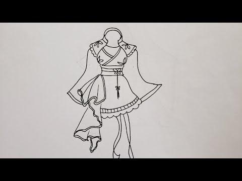 Vẽ trang phục cổ trang cách điệu |shicolor8 #vetranhbutchi#pencil#vetranh#draw#cachvetranh
