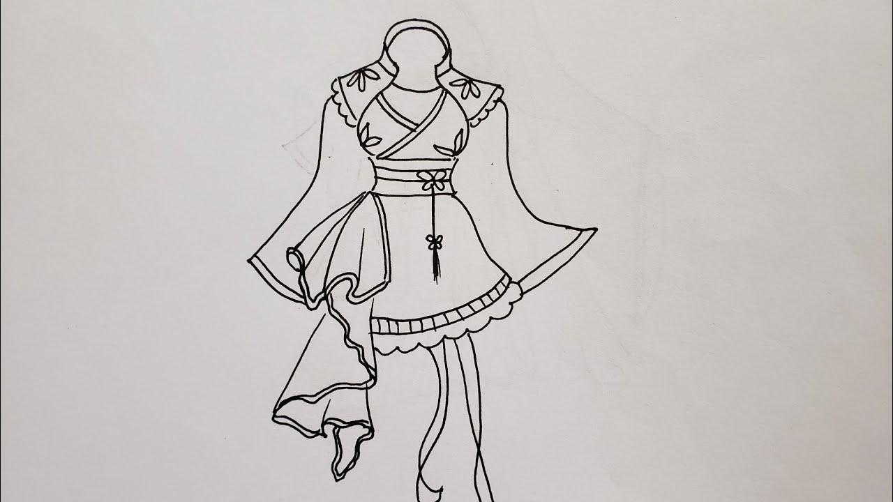 Vẽ trang phục cổ trang cách điệu |shicolor8 #vetranhbutchi#pencil#vetranh#draw#cachvetranh | Tổng quát những kiến thức về cách vẽ người cổ trang đầy đủ nhất