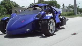 Electric Blu T-rex  Up Close